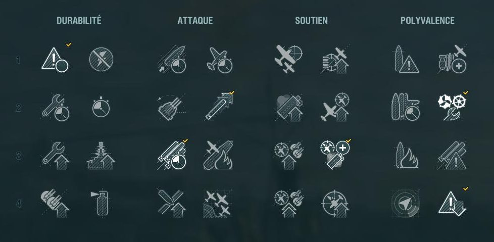 Compétences commandant destroyer japonais Asashio World of Warships